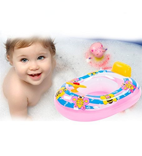 Here Fashion Cute Kids Baby Child Inflatable Swimming laps Pool Swim Ring Seat Float Boat Water Sports Color Send By Ramdom by Here Fashion