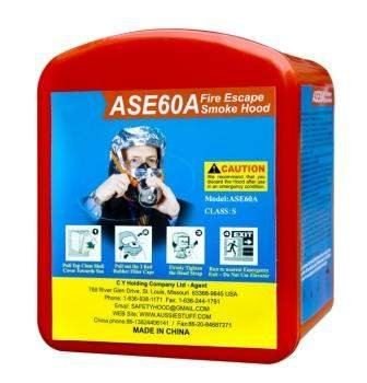 Safe Escape Smoke Hood ASE60A Hard - Escape Emergency Hoods