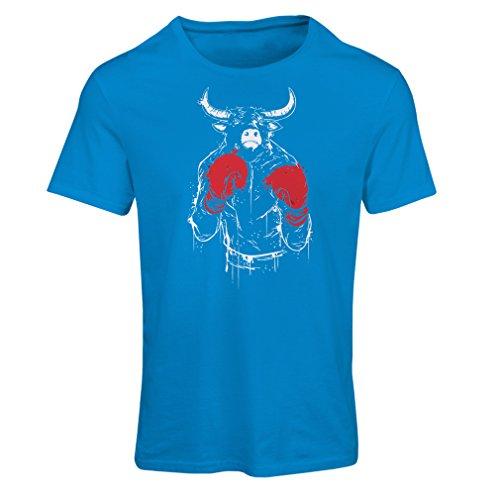Camiseta mujer Torero con guantes de boxeo y muscular Azul Multicolor