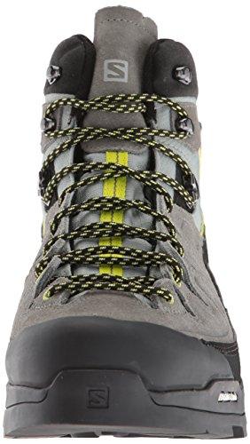 Salomon Herren X Alp Mid Ltr Gtx Trekking- & Wanderstiefel Grau (ombra / Castor Grey / Lime Punch 000)