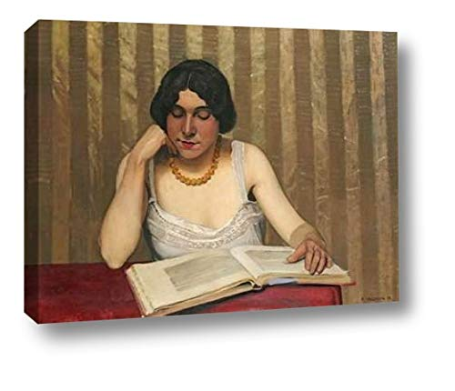Reader with a Yellow Necklace by Felix Vallotton - 17