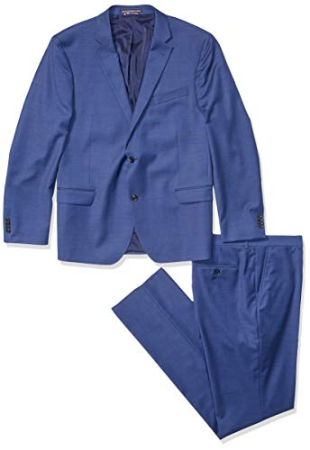 Tommy Hilfiger Men's Slim Fit Performance Suit with Stretch, Bright Navy, 42R