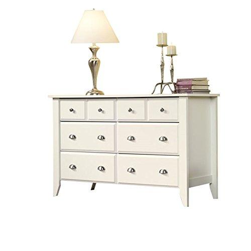 Sauder Shoal Creek Dresser, Soft White finish (Dresser Mirrored Vintage)