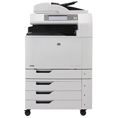 HP Color LaserJet CM6040f MFP - Multifunction ( fax / copier / printer / scanner ) - color - laser - copying (up to): 40 ppm (mono) / 40 ppm (color) - printing (up to): 40 ppm (mono) / 40 ppm (color) - 2100 sheets - 33.6 Kbps - Hi-Speed USB, 1000 Base-T,