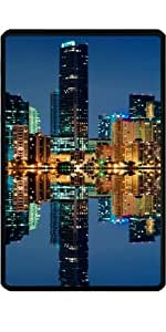 Funda para Kindle Fire 7 pouces - Horizonte De Miami En La Noche by Carsten Reisinger