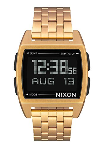NIXON Base A1111 - All Gold - 104M Water Resistant Men's Digital Fashion Watch (38 mm Watch Face, 24 Stainless Steel - Watch Antique Mens