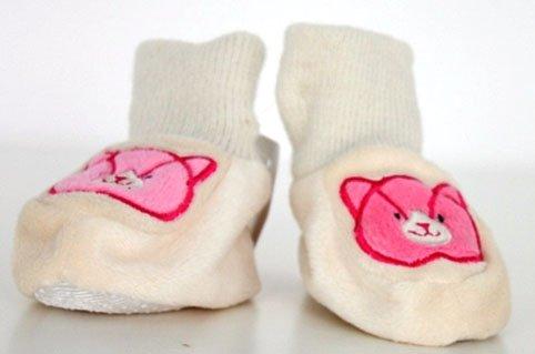 Zapatos de bebé del gato 9 cm con colour rosa con gatito bordados