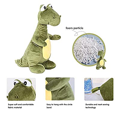 Kenmont Reversible Dinosaur Plush Toy T-Rex Toy, Stuffed Animal Toy - Travel Pillow for Airplanes, U-Shape Neck Pillow for Kids: Home & Kitchen