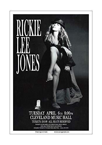 Raw Sugar Art Studio Rickie Lee Jones 1982 Cleveland Concert Poster