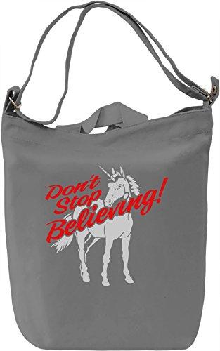 Believe In Unicorns Borsa Giornaliera Canvas Canvas Day Bag| 100% Premium Cotton Canvas| DTG Printing|