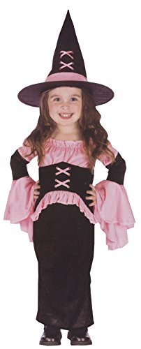 UHC Girl' Witch Pretty Theme Party Fancy Dress Toddler Halloween Costume, Toddler L (Baby Pretty Girl Clown Costumes)
