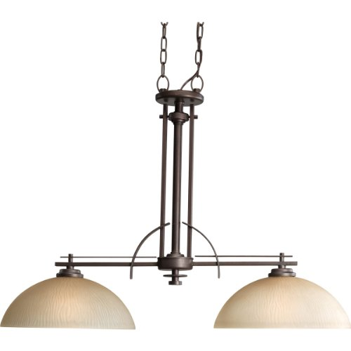 Progress Lighting P4229-88 2-Light Riverside Linear Chandelier, Heirloom For Sale