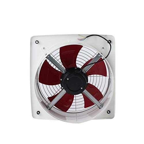 Baynne Blower Fan,Industrial Ventilation Extractor Metal Axial Exhaust Commercial Air Blower Fan Low Noise Stable Running ()