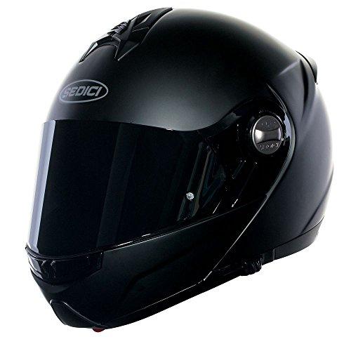 Kevlar Motorcycle Helmets - SEDICI Sistema Modular Motorcycle Helmet - LG, Matte Black