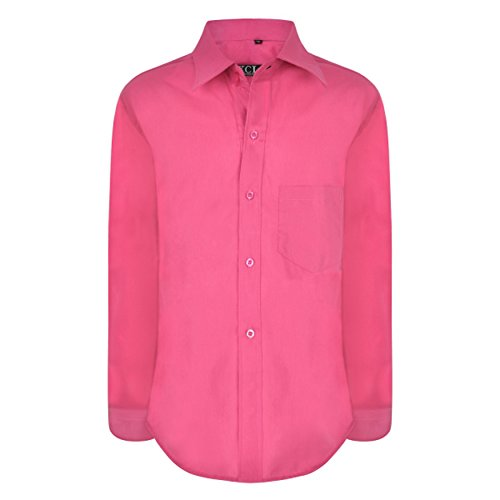 Camisa traje Fucsia de para Fiesta Edad ni Elegante Llanura Ael os 1 15 de Formal os Manga o larga a Tama boda 1rP1q