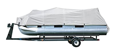 Pyle Armor Shield Trailer Guard Waterproof Pontoon Boat Cover, Marine Grade 300 Denier Polyester Cover, Ultimate Durability, and All Weather Protection, Full Size fits 21-24-Feet x 96-Inch (PCVHP441)