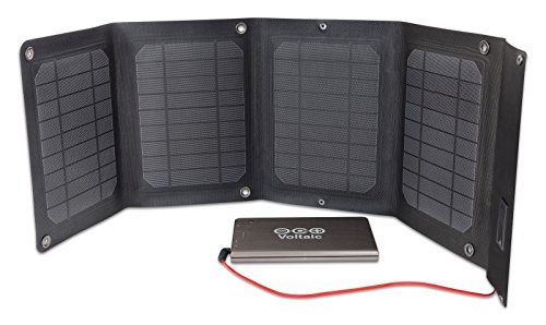Voltaic Systems - Arc 20 Watt Solar Laptop Charger Kit with Backup Battery Pack | Powers Laptops, Phones & USB Devices | Solar Charge your Laptop Anywhere by Voltaic Systems