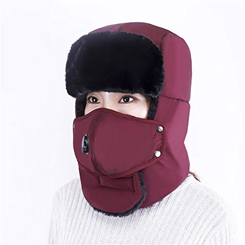 OUYAWEI Unisex Outdoor Winter Fashion Retro Hats Anti-smog Riding Thickened Warm Ear Protection ()