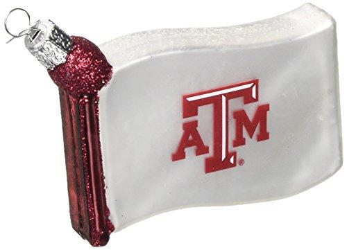 Old World Christmas Texas A & M University Flag Glass Blown