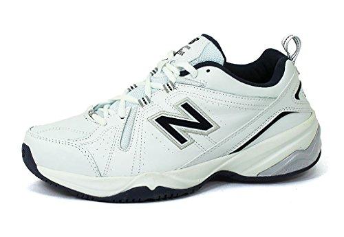 New Balance Men's MX608v4 Training Shoe, White/Navy, 13 4E US