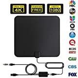 Oliomp 2019 Newest Ultra-Thin Amplified HDTV Antenna 85-110 Miles Long Range with Signal