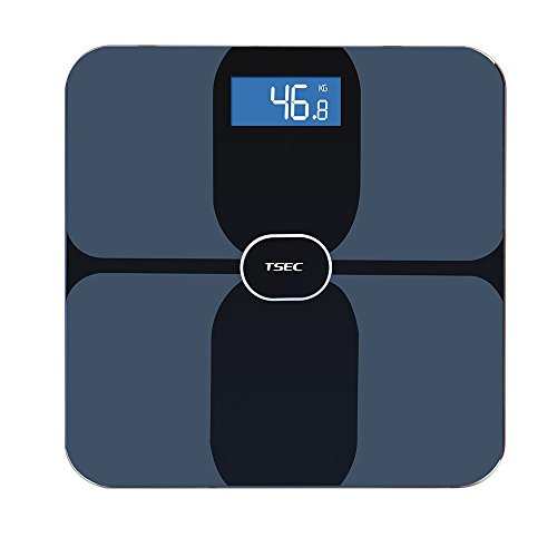 ETTG TT-536B TSEC Bluetooth Smart Body Fat Scale with Smartphone Tracking Health & Fitness Apps for iOS/Android - 400 Lbs Capacity Tempered Glass