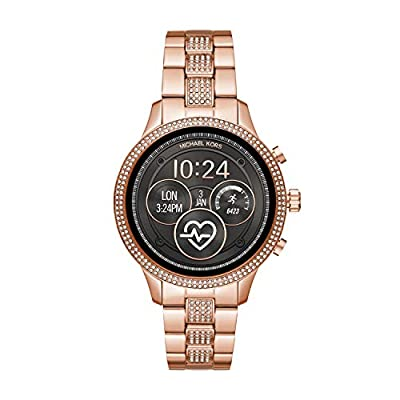 Michael Kors Women's 'Access Runway' Stainless Steel Plated Smart Watch, Color:Gold-Toned (Model: MKT5052)