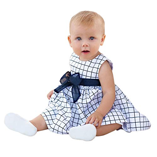 Mini honey Infant Toddle Baby Girls Cotton Dinosaur Print Half Sleeve Skirt Dress Cotton Outfit Clothing (3-4 Years, White-01)