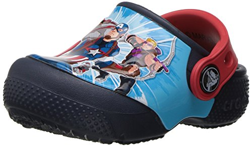 crocs Boys' Crocsfunlab Marvel Avengers Clog, Navy, 12 M US Little Kid