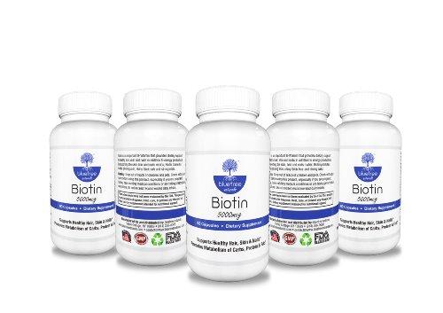 Биотин 5000 мкг: Преимущества здоровой кожи, волос, ногтей: B7 (биотин): формула роста: укрепление ногтей и потеря веса!