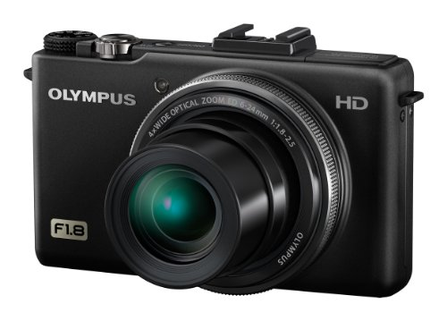 Olympus XZ-1 10 MP Digital Camera with f1.8 Lens and 3-Inch OLED Monitor (Black) (Old Model)