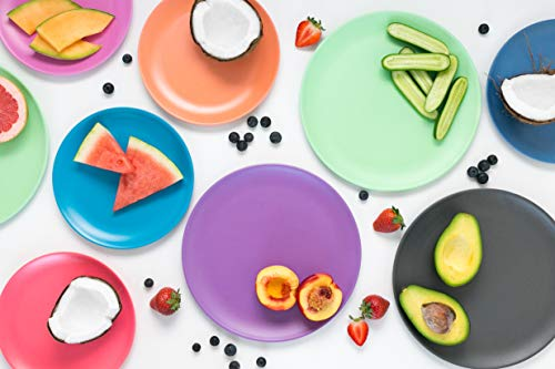 Bobo&Boo Bamboo 5 Piece Children's Dinnerware, Pacific Blue, Non Toxic & Eco Friendly Kids Mealtime Set for Healthy Infant Feeding, Great Gift for Baby Showers, Birthdays & Preschool Graduations by Bobo&boo (Image #1)