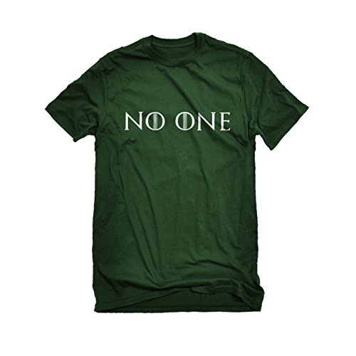Mens No One T-Shirt Forest Green (God Of Wine Costume)