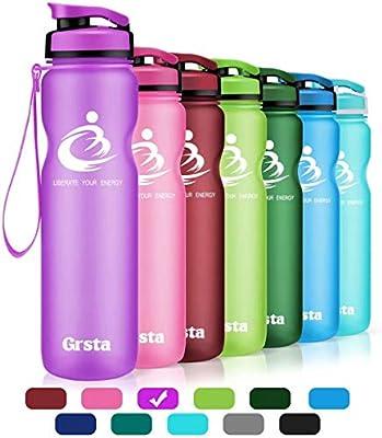 Grsta Botella del Agua Deporte 32oz-1000ml Tritan Sin BPA & Eco ...