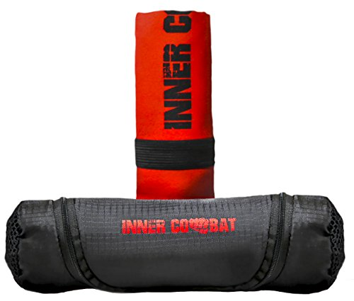Microfiber Towel by INNER COMBAT RESERVED | Gym & Sports & Travel & Outdoor Towel. Fast Dry - Ultra Absorbent - Compact - Antibacterial. Great for Camping, Hiking, Swimming, Backpacking (includes Bag) by INNER COMBAT