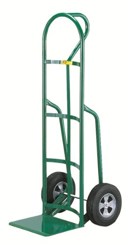 Little-Giant-T-240-14-Gauge-Tubular-Steel-12-Deep-Reinforced-Nose-Plate-Hand-Truck-with-Loop-Handle-Solid-Rubber-Tire-Wheels-Green-800-lbs-Load-Capacity-49-Height-x-19-Width-x-22-Depth