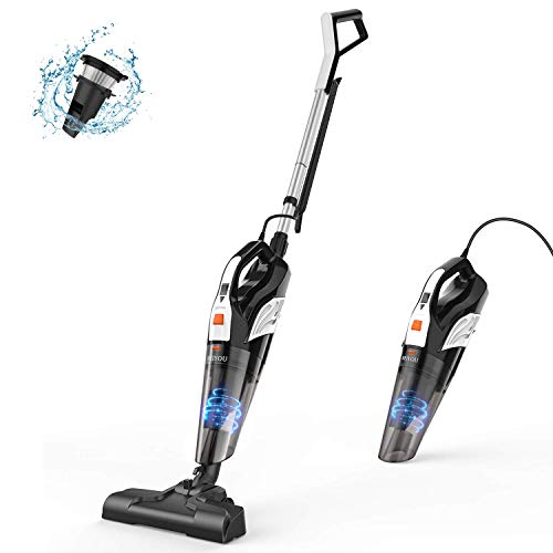 Stick Vacuum, Meiyou Lightweight Stick Vacuum Cleaner Corded 18Kpa Stand Strong Power Suction 2-in-1 Handheld Stick Vacuum Cleaner with Stainless Steel Filter Suit for Home&Office