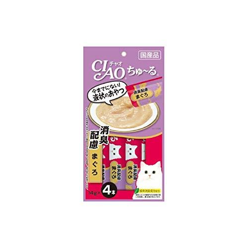 INABA CIAO Churu Cat Lick Snacks Tuna with Deodorant effect 14 g 4 p CatFood