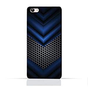 AMC Design Abstract Blue Mesh Pattern Printed Protective Case for Vivo X7 Plus - Multi Color
