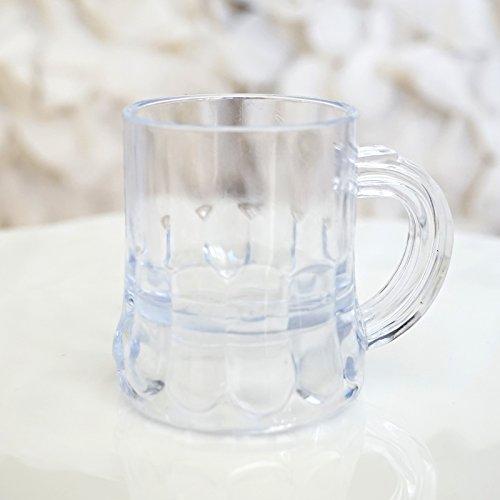 Mini Clear Plastic Beer Mug Shot Glasses- 1.75