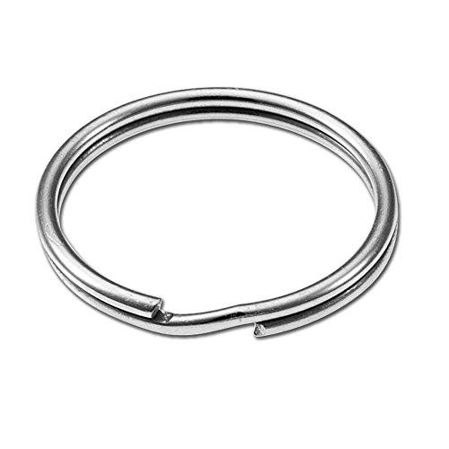 Lucky Line 1 Nickel-Plated Steel Split Rings, 100 Per Box (76400)