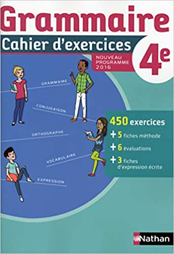 Amazon Fr Cahier De Grammaire 4e Cecile De Cazanove