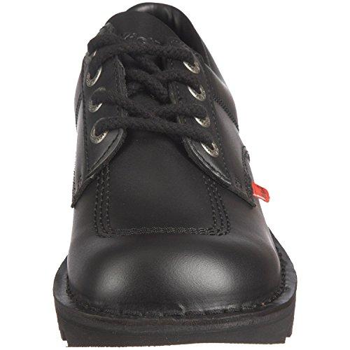 Kickers uomo nero Kick lo in pelle con lacci, punta arrotondata e scarpe casual taglia 42