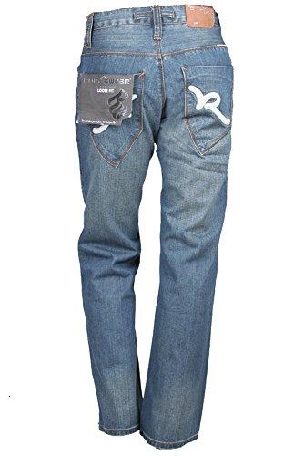ROCAWEAR Jeans Blau Used-Look Baumwolle