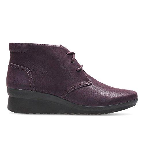 Clarks Damen Caddell Hop Hohe Sneaker Violett