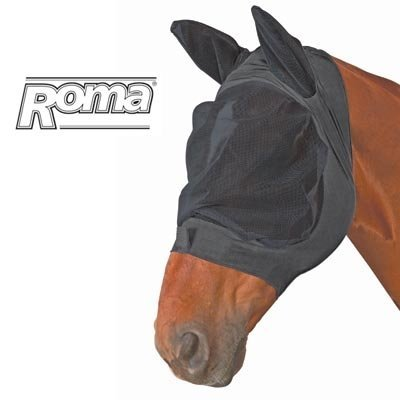 Roma Stretch Eye Saver with Ears - Size:Cob Color:Black/Black