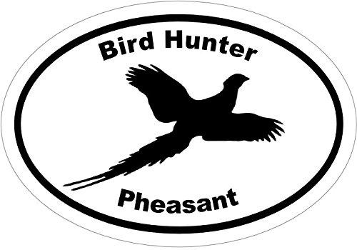 WickedGoodz Oval Vinyl Bird Hunter Pheasant Decal - Hunting Bumper Sticker - Perfect Upland Gift