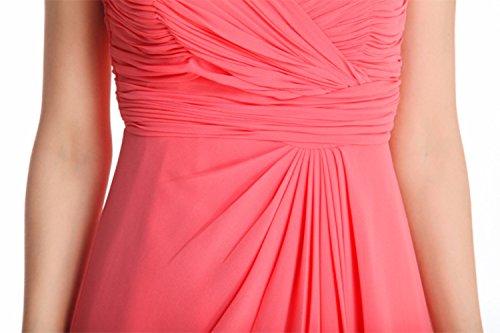 Delle Pink Halter Cotiledone Donne Chiffon Partito Dress R6fOf0n
