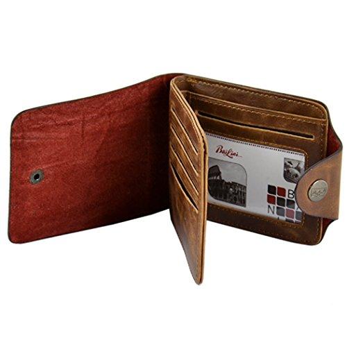 Men Geldbörse = All4you New Men's Classic Leather Taschen Credit/ID Cards Holder Geldbörse