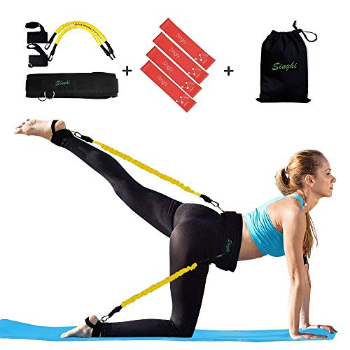Singhi Booty Resistance Bands Set, Booty Lift Belt System Butt and Leg Workout Bands Butt Lifter Tones and Sculpts Butt with Bonus 4 Resistance Bands